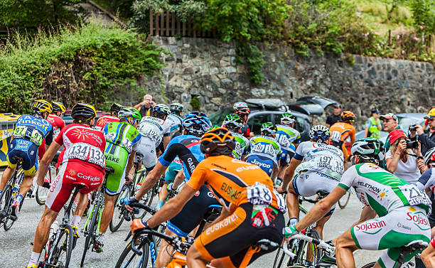 The Peloton on Alpe D'Huez​​​ foto
