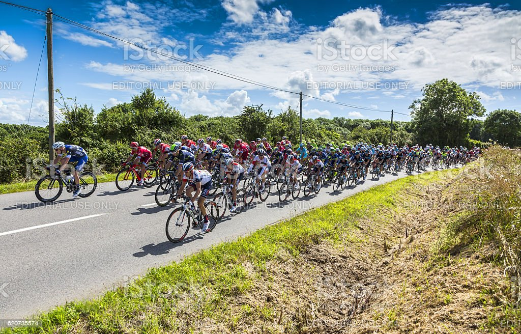 The Peloton - Tour de France 2016 stock photo