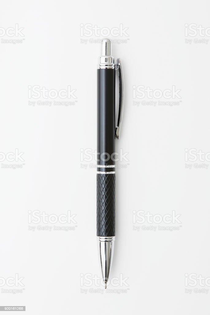 the pen on white stock photo