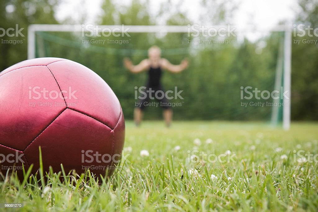 The penalty spot royalty-free stock photo
