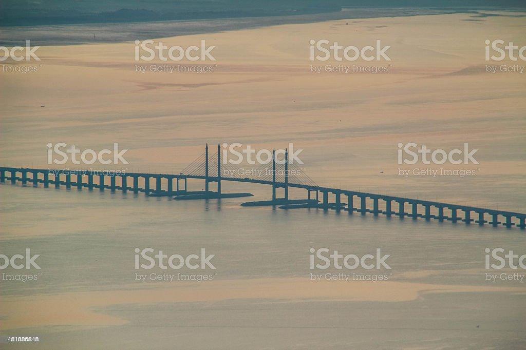 The Penang Bridge stock photo