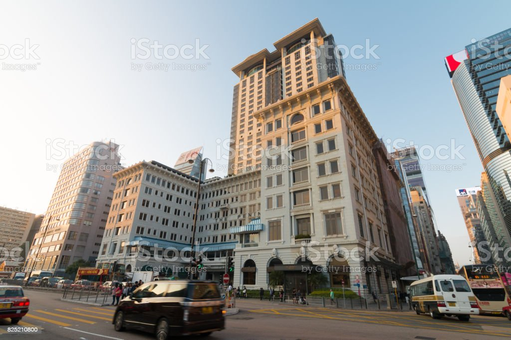 The peninsula hotel in Hong Kong stock photo