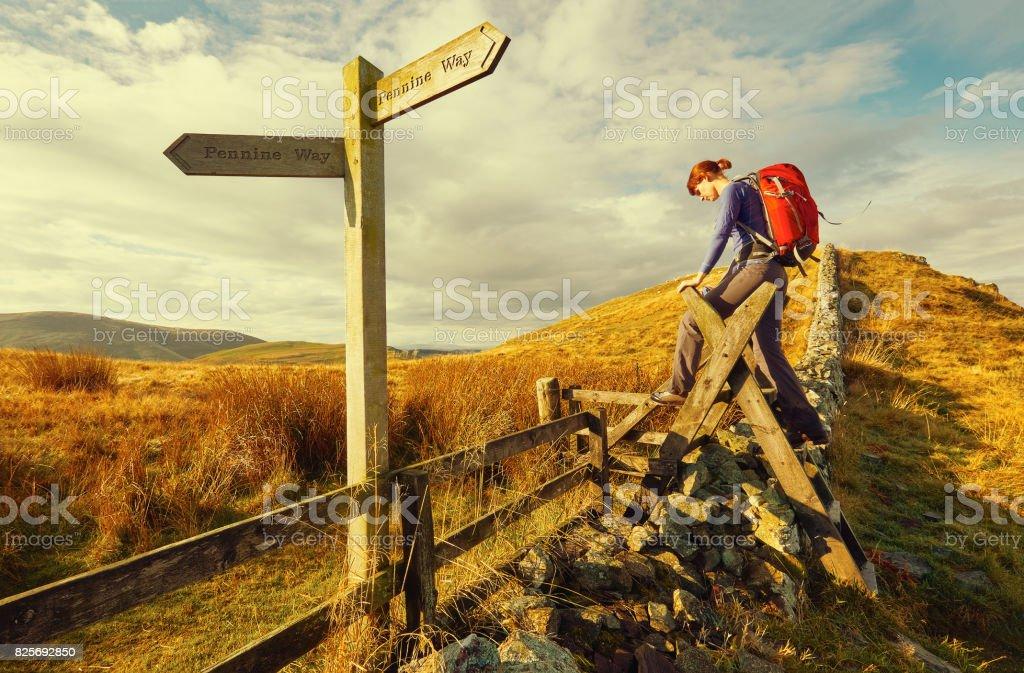 The Pennine Way stock photo