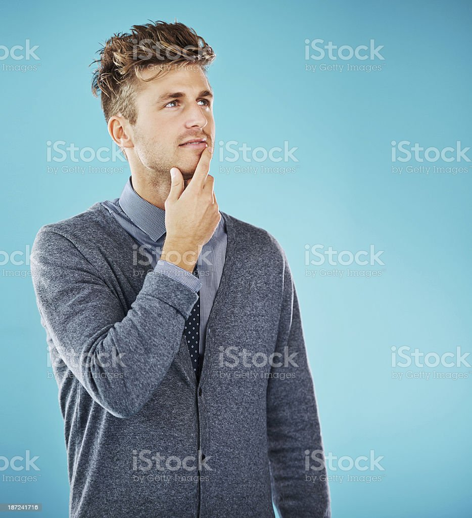 The pensive pose royalty-free stock photo