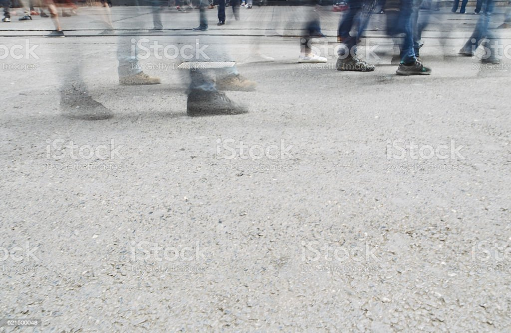 Die Menschen auf der istiklal-Straße Lizenzfreies stock-foto