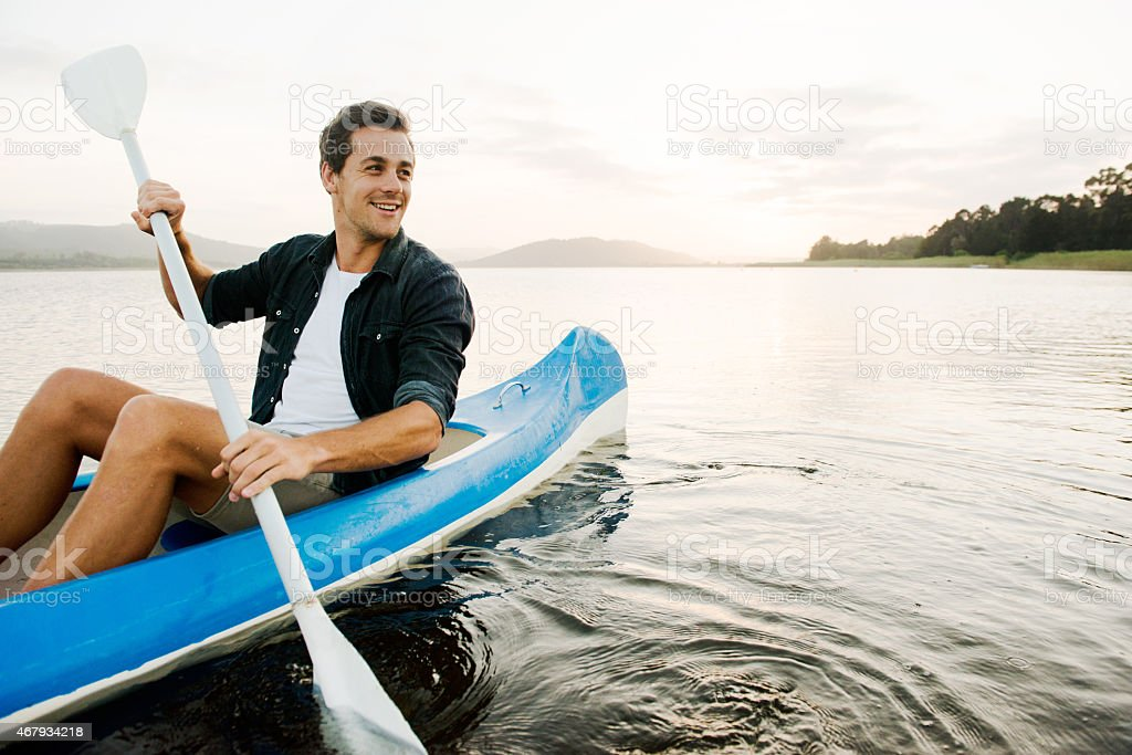 The perfect day to be out on the lake stock photo