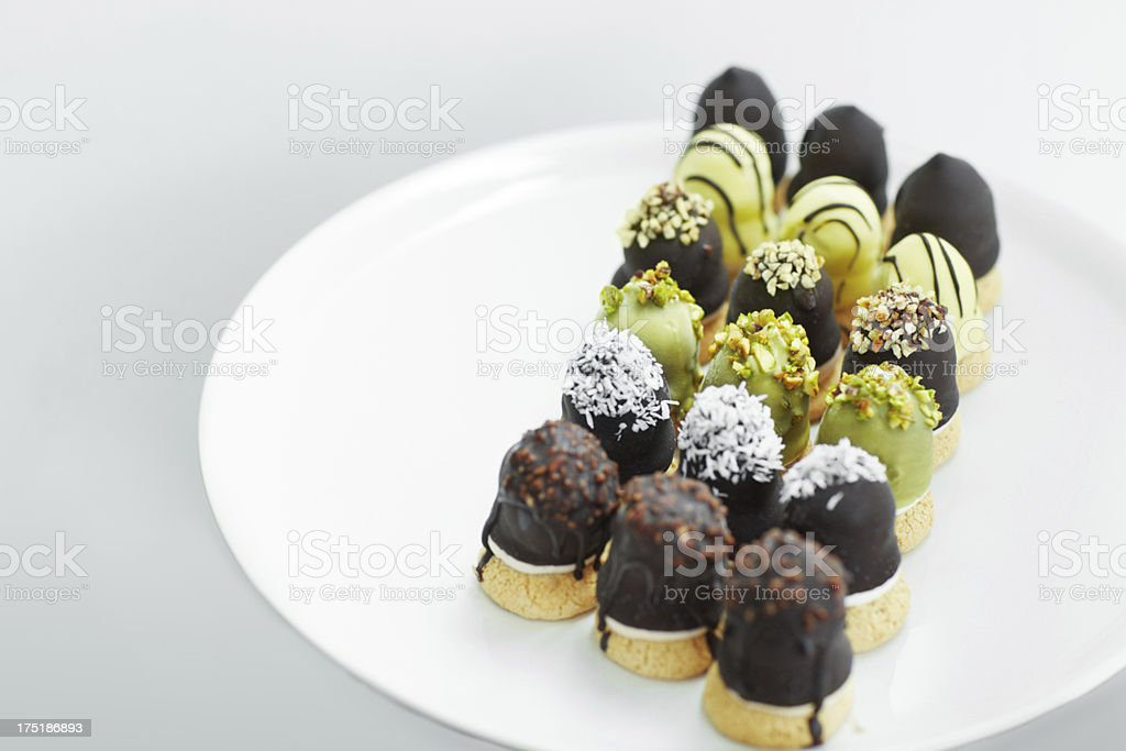The perfect dessert platter royalty-free stock photo