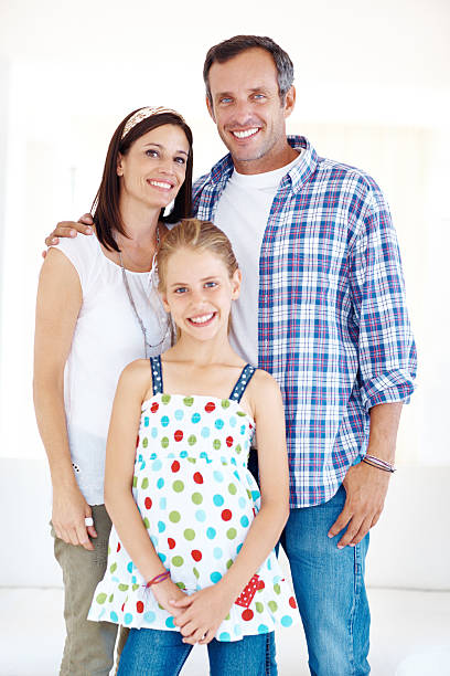 The perfect family portrait stock photo