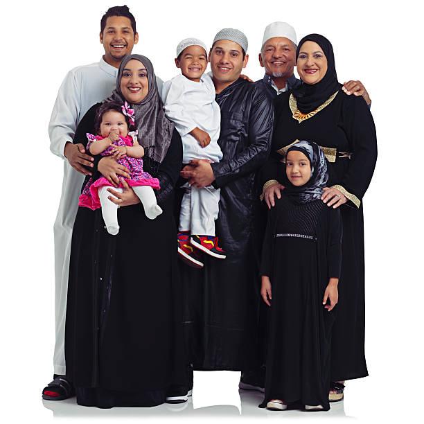 Retrato de la familia perfecta - foto de stock