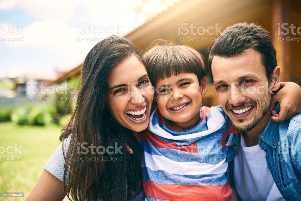 A perfeita pequena família - foto de acervo