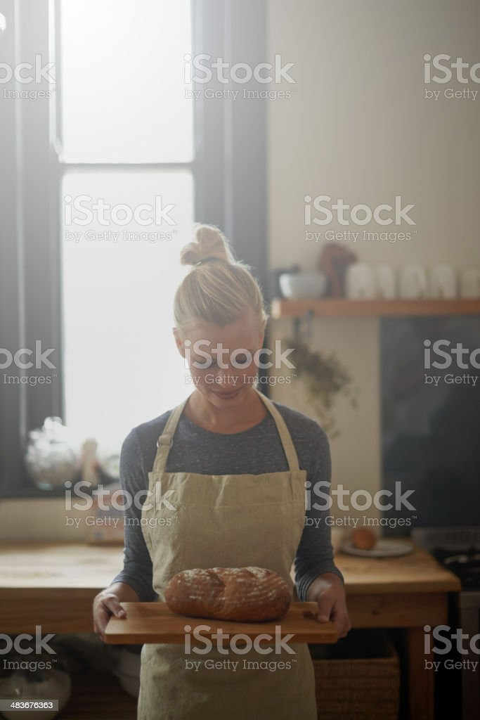 The perfect loaf! stock photo