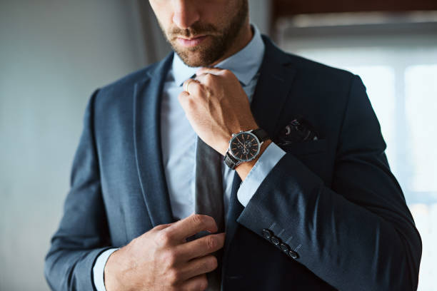 the perfect outfit means a perfect day - menswear stock photos and pictures
