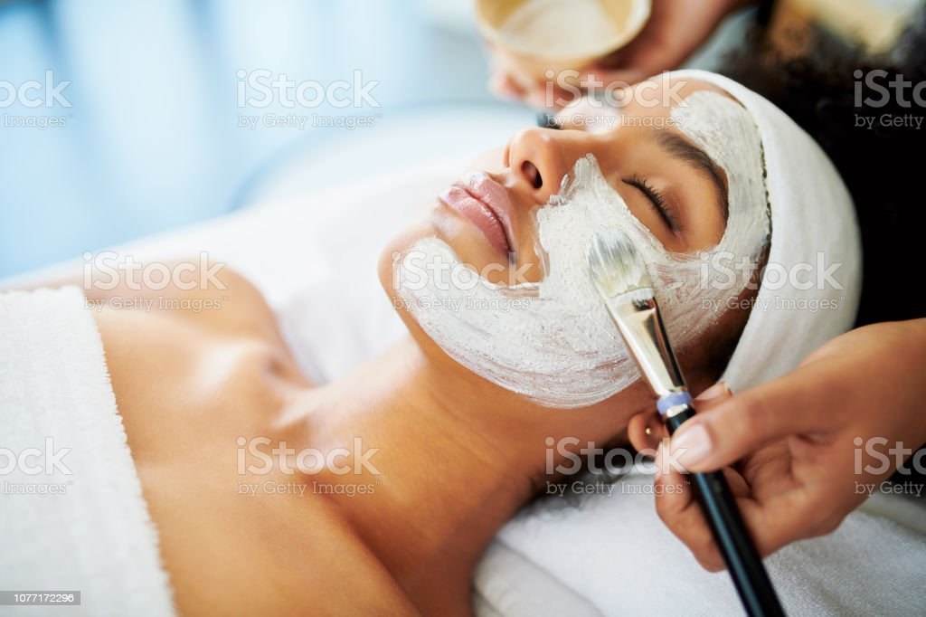 The perfect pick me up for her skin stock photo