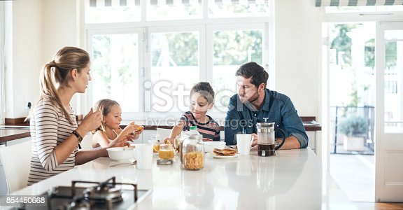 istock The perfect place to bond, the breakfast table 854450668