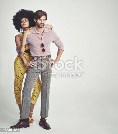 istock The perfect retro couple 465351855
