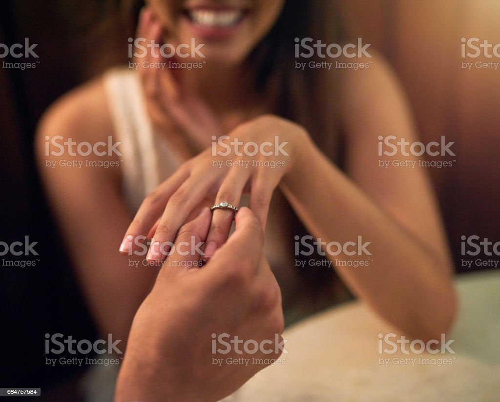 The perfect ring to solidify their love stock photo