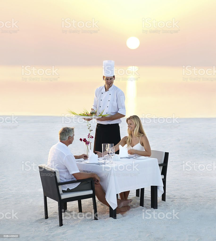The perfect romantic dinner stock photo