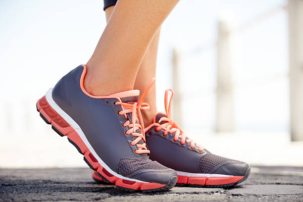 The perfect running shoes stock photo