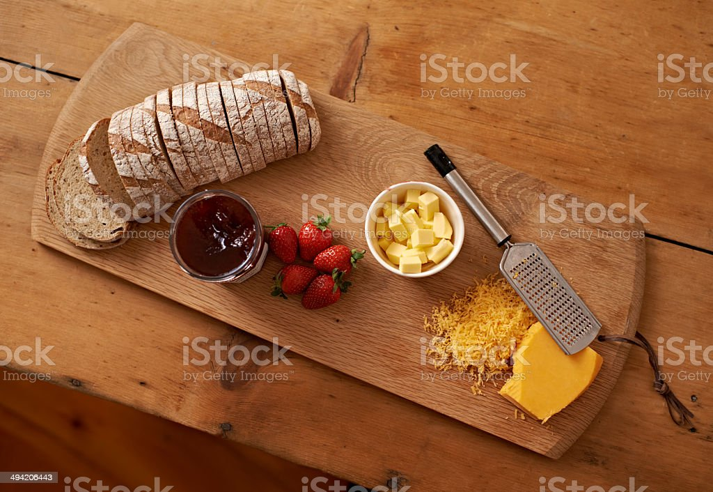 The perfect snack stock photo