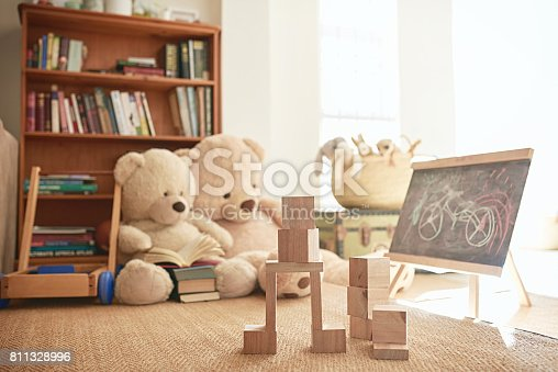 Shot of a playroom filled with toys