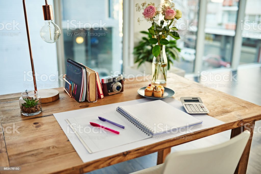 The perfect spot to inspire creativity stock photo