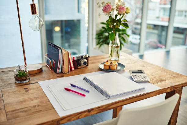 The perfect spot to inspire creativity Shot of a creative workstation in a modern office neat stock pictures, royalty-free photos & images