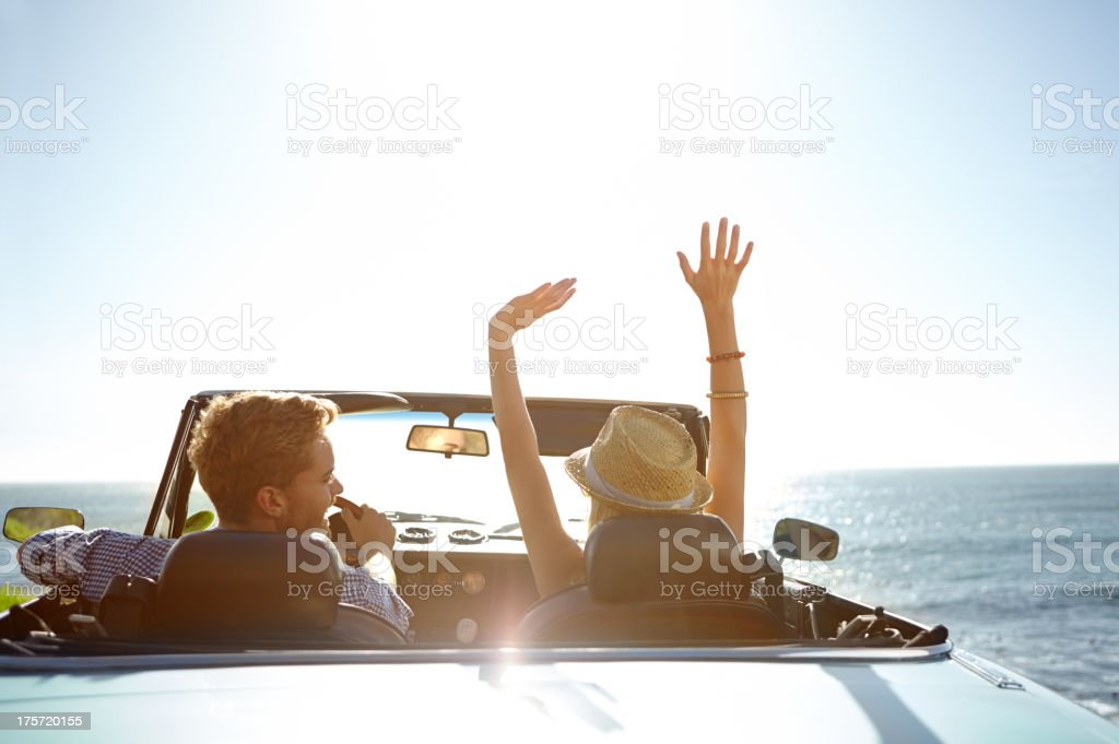 The perfect start to a holiday! stock photo