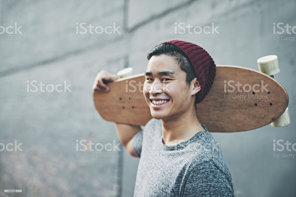 The perfect way to get through these streets stock photo