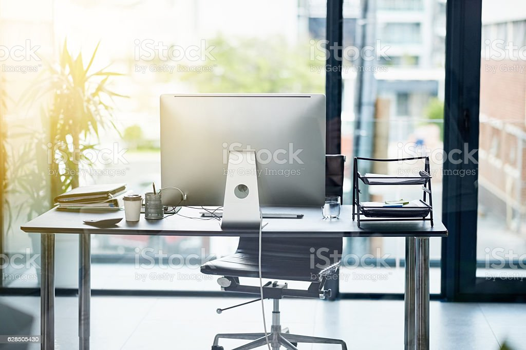 The perfect workstation stock photo