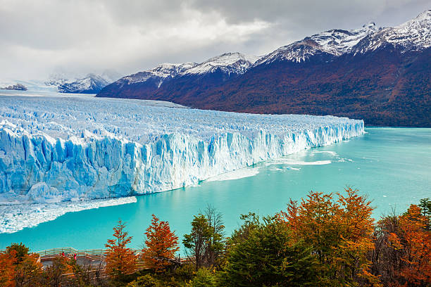 the perito moreno glacier - south stock photos and pictures