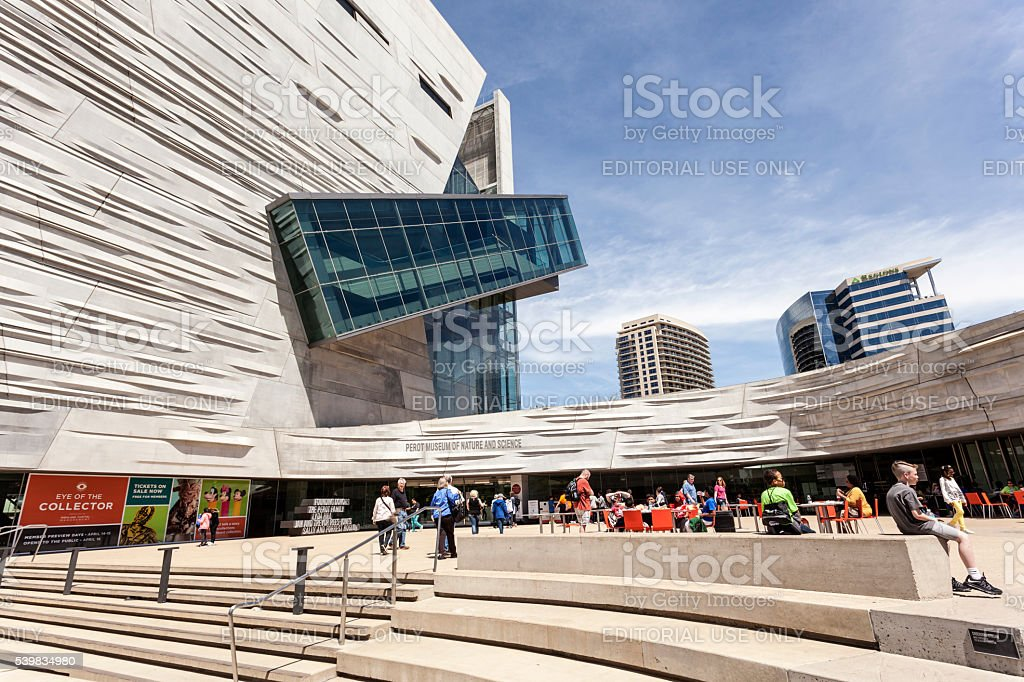 The Perot Museum of Nature and Science in Dallas stock photo