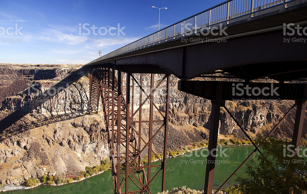 The Perrine Bridge Over the Snake River royalty-free stock photo