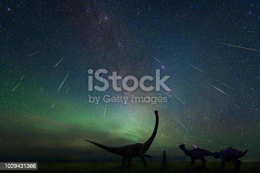 istock The Perseid meteor shower, shot In August 13, 2018, at erenhot, Inner Mongolia china 1029431366