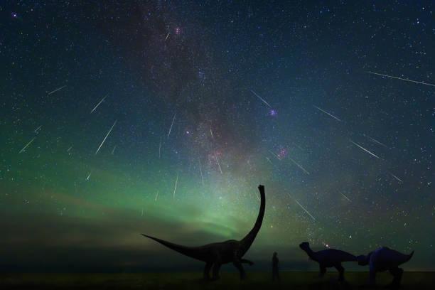 Die Perseiden Meteorschauer beschossen im 13. August 2018, Erenhot, Innere Mongolei, china – Foto