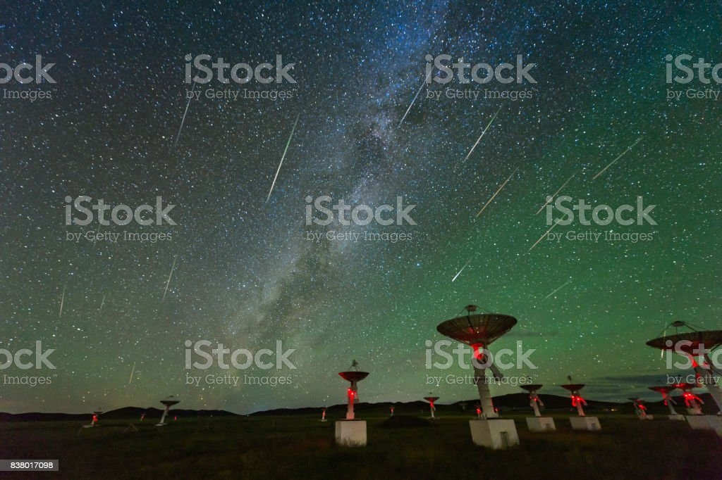 The Perseid meteor shower, shot In August 13, 2016, in Inner Mongolia china