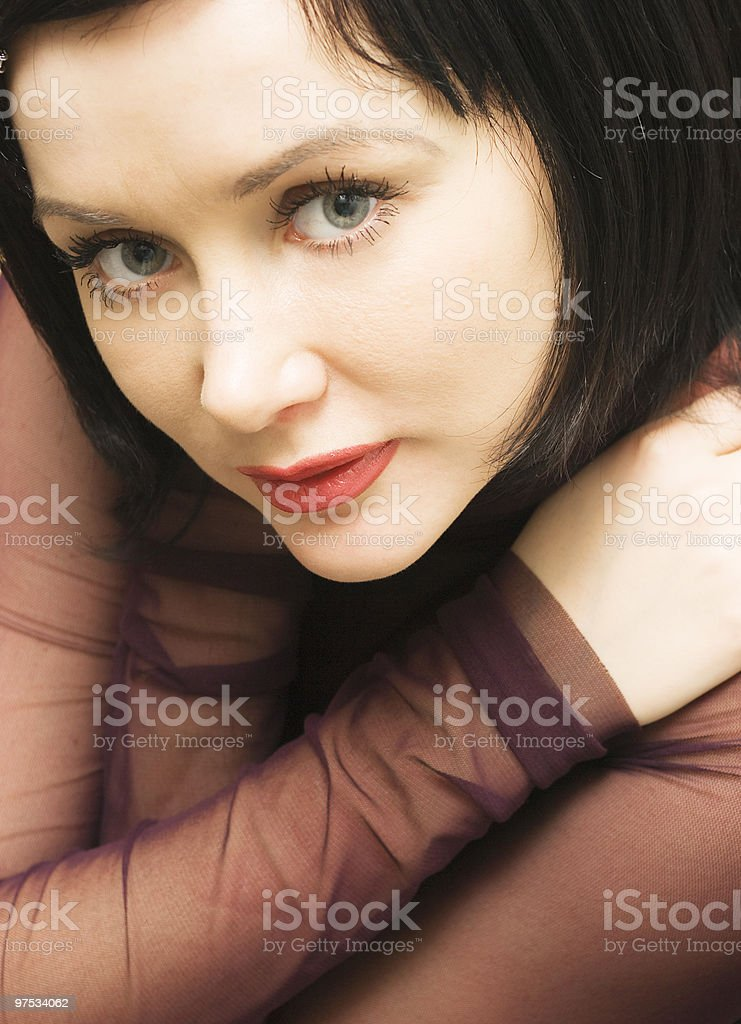 The person of beautiful girl royalty-free stock photo