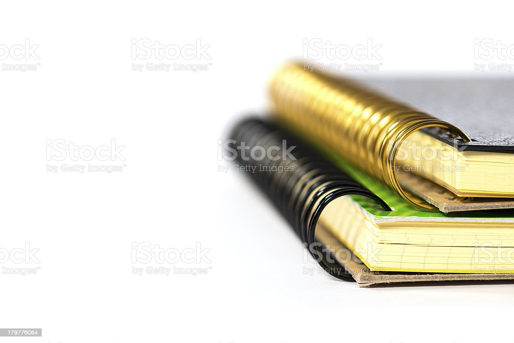 The perspective shot ring notebook. royalty-free stock photo
