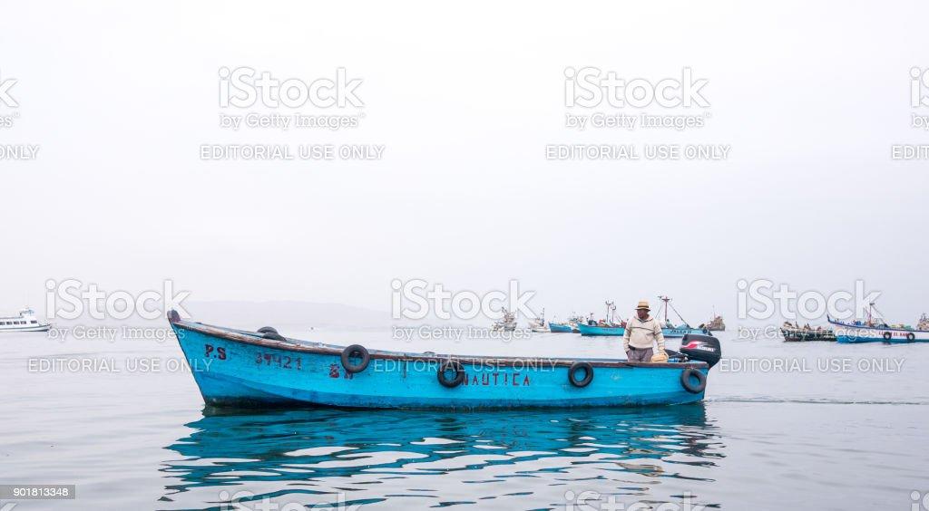 The Peruvian Fisherman stock photo