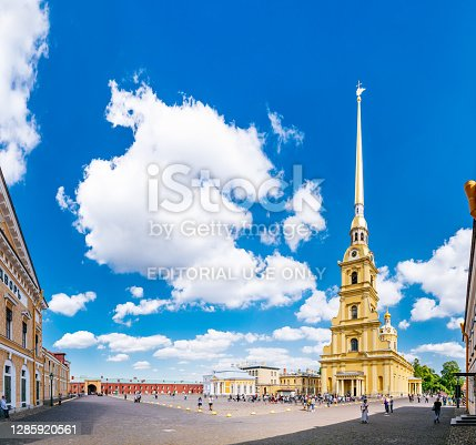 istock The Peter and Paul Cathedral in Peter and Paul Fortress, Saint Petersburg. 1285920561