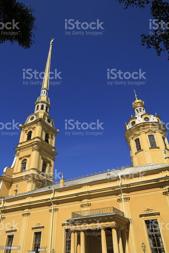 The Peter and Paul Fortress royalty-free stock photo