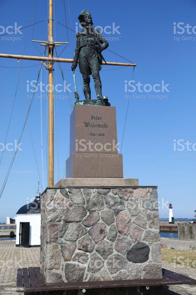 The Peter Willemoes statue Assens Denmark stock photo