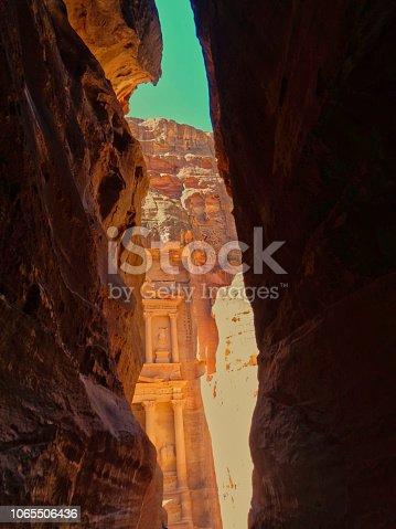 the peta temple in Jordan before sunset begin