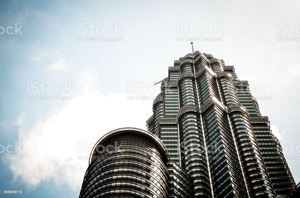 The Petronas Towers in Kuala Lumpur, Malaysia stock photo