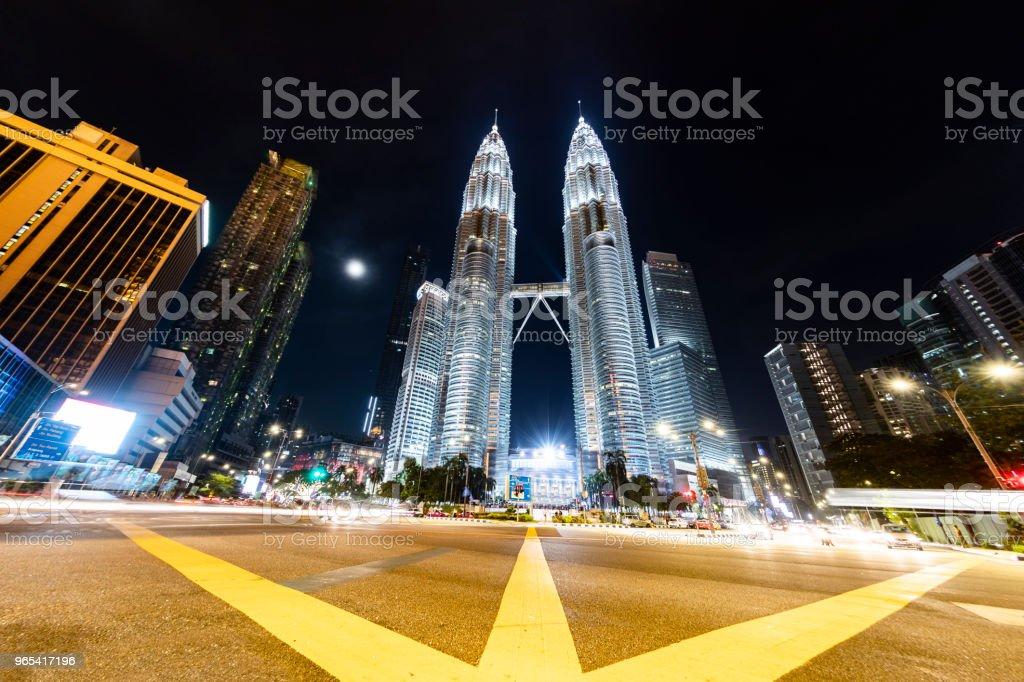 The Petronas Towers, Kuala Lumpur, Malaysia royalty-free stock photo