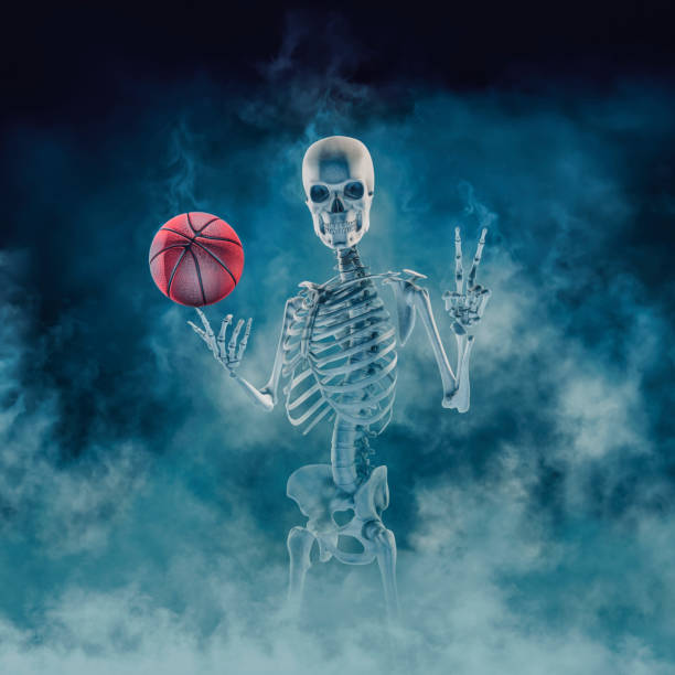 The phantom basketball player stock photo