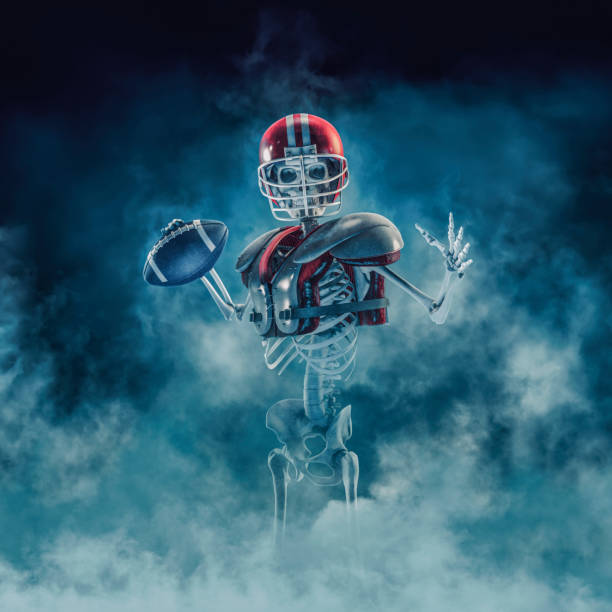 The phantom football quarterback stock photo
