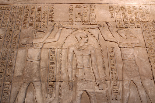 614744994 istock photo The Pharaon gets power from the Gods 1140311500