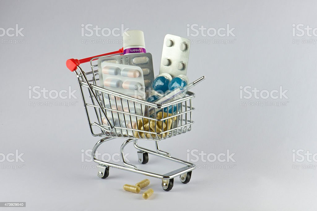 Die pharmazeutische Industrie ist in Supermärkten – Foto