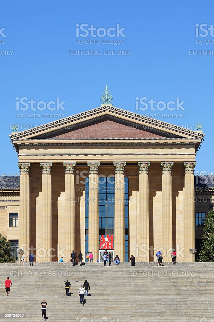 The Philadelphia Museum of Art stock photo