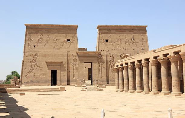 The Philae Temple, on Agilkia Island. Egypt. stock photo